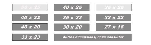 dimensions ardoises - ardoise de couverture - Gamme GS - Greystones Slate